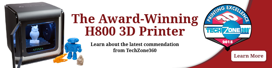 TechZone 360 Award for Afinia's H800